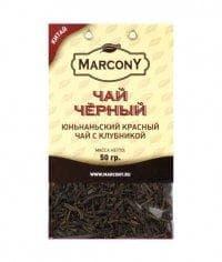 Чай чёрный листовой Marcony юньнаньский с клубникой 50г