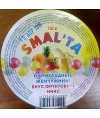 Смальта Мармеладные жемчужины Фруктовый микс 110г