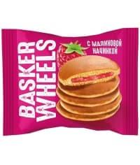 Пирожное панкейк Basker Wheels с малиновым джемом 36 г