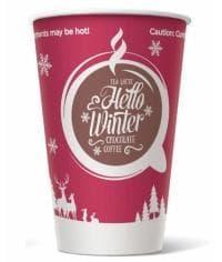 Бумажный стакан Hello Winter d=80 300мл
