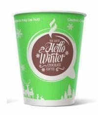 Бумажный стакан Hello Winter (100 шт) d=90 300мл