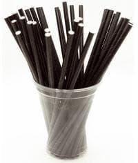 Бумажные трубочки черные 197 мм d=6мм (250 шт)