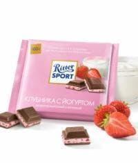 Шоколад Риттер Спорт Молочный с Клубникой и Йогуртом Ritter Sport 100г