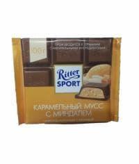 Шоколад Риттер Спорт Карамельный Мусс с Миндалем Ritter Sport 100 грамм