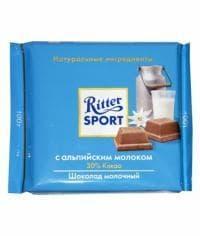 Шоколад Ritter Sport с альпийским молоком 100г