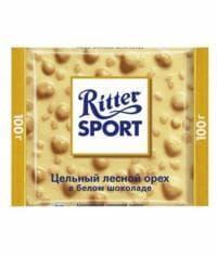 Шоколад Риттер Спорт Белый с Цельным Фундуком Ritter Sport 100 г