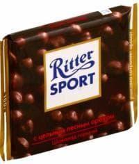 Шоколад Риттер Спорт Горький с Цельным ФундукомRitter Sport 100 г