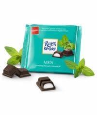 Шоколад Риттер Спорт Темный с Мятной Начинкой Ritter Sport 100 грамм