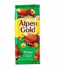 Шоколад Альпен Гольд Фундук Alpen Gold 90 грамм
