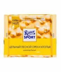 Шоколад Ritter Sport Белый Цельный Лесной Орех и Хлопья 100г
