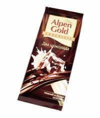 Шоколад Альпен Гольд Два Шоколада Alpen Gold 90 грамм