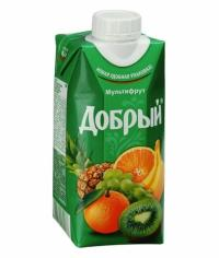 Добрый МУЛЬТИФРУКТ 330мл. тетрапак 0.33