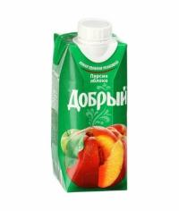 Добрый Персик Яблоко 330мл Тетрапак