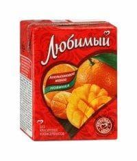 Любимый Апельсиновое Манго 200 мл тетрапак 0.2 л