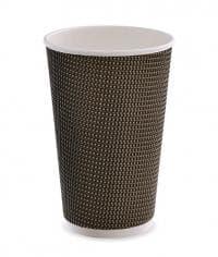 Трехслойный стакан гофрированный 480 мл коричневый (100 шт)