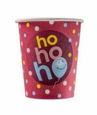 Бумажный стакан Ho-ho-ho (100 шт) ∅80 250мл