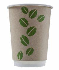 Бумажный стакан Coffee Bean Craft 2-слойный d=90 300мл