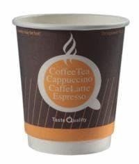 Бумажный стакан двухслойный 300 мл Taste Quality оранжевый (100 шт)