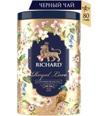 Подарочный чай черный Richard Royal Love листовой 80 г банка