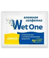 Влажная салфетка 12х16 см в инд. упаковке Лимон