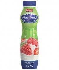 Йогурт питьевой Alpenland 1,2% Клубника 290мл