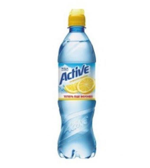 Аква Минерале Актив Active лимон вода 600 мл ПЭТ 0.6
